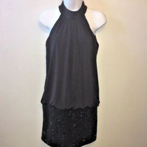 Frederick's of Hollywood Mini Dress Black Sequins